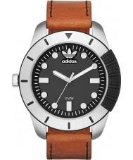 Adidas ADH3038 Mens ADI-1969 Brown Leather Strap Watch
