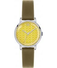 Orla Kiely OK2029 Ladies Patricia Stem Print Olive Leather Strap Watch