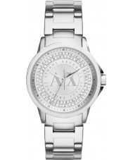 Armani Exchange AX4320 Ladies Urban Silver Stone Set Watch