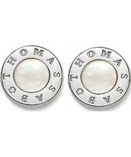Thomas Sabo H1859-029-14 Ladies Signature Disc Stud Earrings with Mother of Pearl