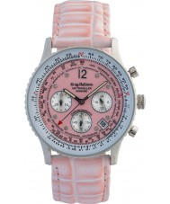 Krug-Baumen 400515DS Air Traveller Pink Dial Pink Strap