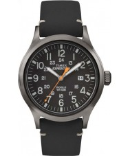 Timex TW4B01900 Mens Expedition Analog Elevated Black Leather Strap Watch