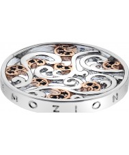 Emozioni Silver and Rose Gold Plated Edera Coin