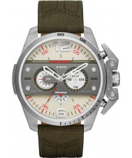 Diesel DZ4389 Mens Ironside Green Leather Chronograph Watch