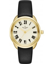 Kate Spade New York KSW1093 Ladies Crosstown Black Leather Strap Watch