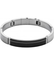 Skagen SKJM0080998 Mens Rasmus Silver and Black Steel Bracelet