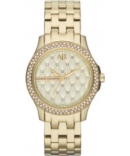 Armani Exchange Ladies Gold Plated Bracelet Dress Watch