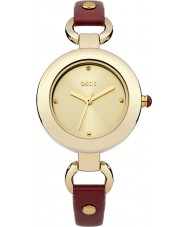 Oasis Ladies Red Leather Strap Watch
