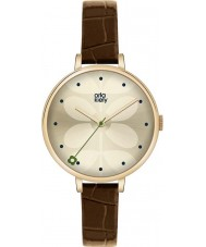Orla Kiely OK2030 Ladies Ivy Brown Leather Strap Watch