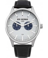 Ben Sherman WB024S Mens Spitalfields Social Black Leather Strap Watch