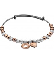 Emozioni DC103 Ladies Rose Gold Plated Bangle with White Glass