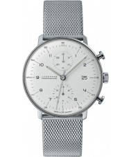Junghans 027-4003-44 Max Bill Silver Chronoscope Automatic Watch