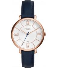 Fossil ES3843 Ladies Jacqueline Blue Leather Strap Watch