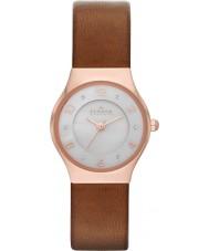 Skagen SKW2210 Ladies Grenen Brown Leather Strap Watch