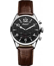 Ingersoll INQ029BKSL Mens Compton Black Brown Watch