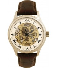Rotary GS02519-09 Mens Timepieces Cream Brown Skeleton Mechanical Watch