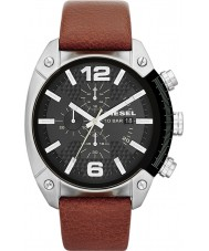Diesel DZ4296 Mens Overflow Chronograph Tan Leather Strap Watch