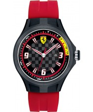 Scuderia Ferrari Mens Pit Crew Black and Red Rubber Watch