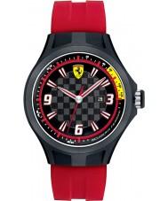 Scuderia Ferrari 0830002 Mens Pit Crew Black and Red Rubber Watch