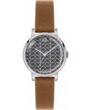 Orla Kiely OK2031 Ladies Patricia Stem Print Tan Leather Strap Watch