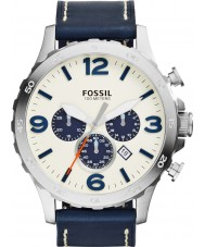 Fossil JR1480 Mens Nate Navy Chronograph Watch