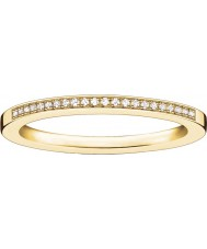 Thomas Sabo Ladies Glam and Soul Yellow Gold Diamond Ring