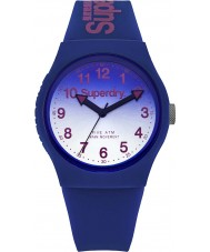 Superdry SYG198UU Ladies Urban Laser Blue Silicone Strap Watch