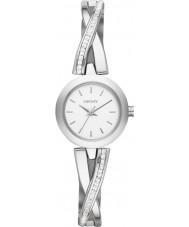 DKNY NY2173 Ladies Crosswalk Silver Stone Set Watch