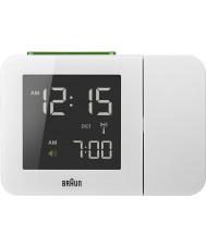 Braun BNC015WH-RC White Digital Clock