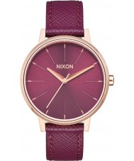 Nixon A108-2479 Ladies Kensington Bordeaux Leather Strap Watch