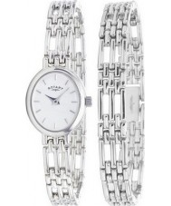 Rotary Ladies Precious Metals Sterling Silver Watch With Matching Bracelet