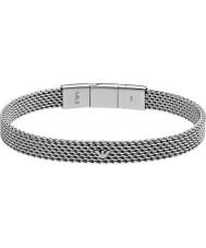 Emporio Armani EGS2140040 Mens Deco Tonneau Mesh Silver Steel Bracelet