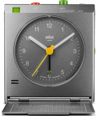 Braun BNC005GYGY Motion Actived Snooze Alarm Clock - Grey