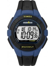 Timex TW5K95700 Ironman 30-Lap Full Size Black and Blue Resin Strap Watch