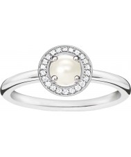 Thomas Sabo Ladies Glam and Soul Silver Diamond Ring
