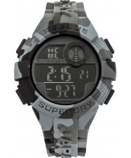 Superdry SYG193BE Mens Radar Camo Grey Silicone Strap Watch