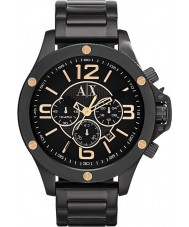 Armani Exchange AX1513 Mens Black IP Chronograph Sports Watch