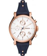 Fossil ES3838 Ladies Original Boyfriend Blue Chronograph Watch