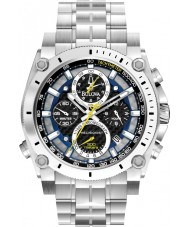 Bulova 96G175 Mens Precisionist Silver Steel Bracelet Chronograph Watch