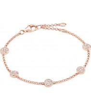 Thomas Sabo A1330-416-14-L19-5v Ladies Sparkling Circles Zirconia Pave Rose Gold Bracelet