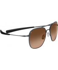 Serengeti Aerial Titanium Shiny Gunmetal Drivers Gradient Sunglasses