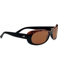 Serengeti Bella Shiny Black Cork Polarized Drivers Sunglasses
