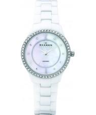 Skagen 347SSXWC Ladies Ceramic White Glitz Watch