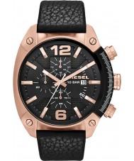 Diesel DZ4297 Mens Overflow Chronograph Black Leather Strap Watch