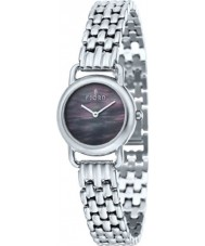 Fjord FJ-6010-11 Ladies Jette 2 Hand Black Silver Watch