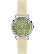 Orla Kiely OK2033 Ladies Patricia Stem Print Cream Leather Strap Watch