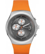 Skagen SKW6156 Mens Jannik Chronograph Orange Silicone Strap Watch