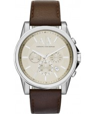 Armani Exchange AX2506 Mens Beige Dark Brown Chronograph Dress Watch