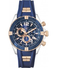 Gc Y02009G7 Mens SportRacer Rose Gold Plated Chronograph Watch