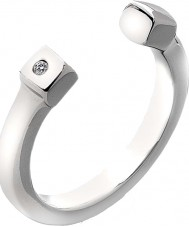 Hot Diamonds Ladies Lucky Silver Tone Ring